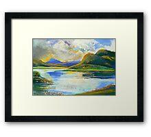 Maroon Dam Framed Print