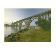 Bridge over the river Yaquina Art Print