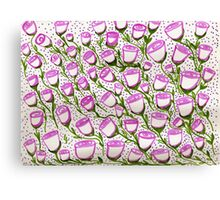many cupped roses  Canvas Print