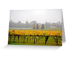 Winery Mist Greeting Card