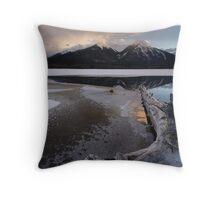 Winter Vermillion Throw Pillow