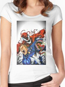 Carnage and Venom Women's Fitted Scoop T-Shirt
