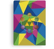 Tri-Force polygon Canvas Print