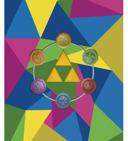 Tri-Force polygon Sticker