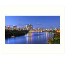 Brisbane City - HDR Art Print