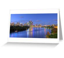 Brisbane City - HDR Greeting Card