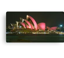 Pink Sydney Opera House for Breast Cancer Week 2006 Canvas Print