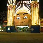 Reflections, Luna Park - Sydney Australia by Steve Grunberger