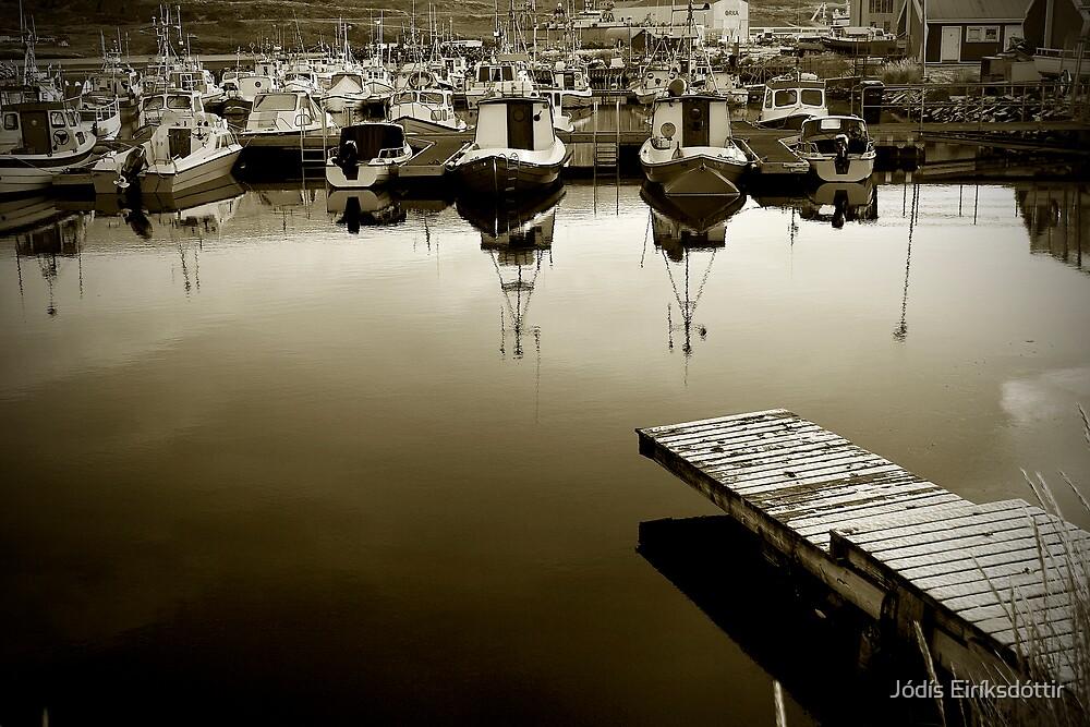 A Still Day at the Docks by Jódís Eiríksdóttir
