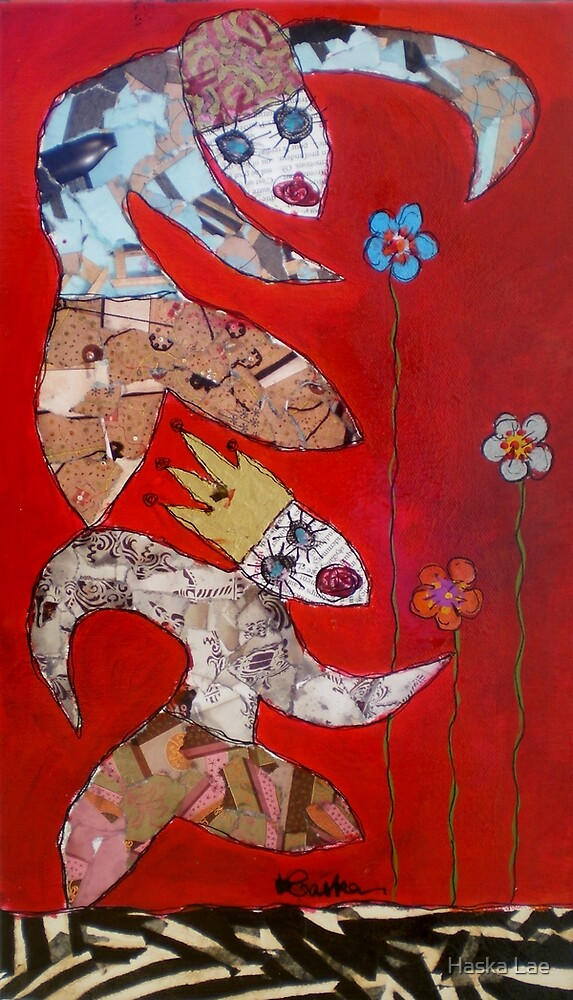 Protect Flowers (original canvas sold out) by Haska Lae