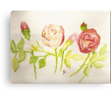 pink and red wild roses  Canvas Print