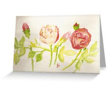 pink and red wild roses  Greeting Card