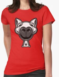 English Bull Terrier Hello Womens Fitted T-Shirt