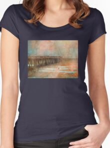 Through the Orange Haze Women's Fitted Scoop T-Shirt