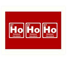 Ho Ho Ho - Christmas - Santa Claus - Periodic Table Art Print