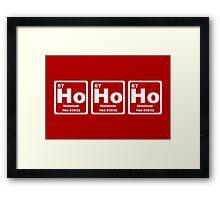Ho Ho Ho - Christmas - Santa Claus - Periodic Table Framed Print