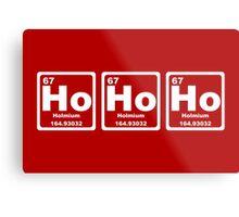 Ho Ho Ho - Christmas - Santa Claus - Periodic Table Metal Print