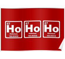 Ho Ho Ho - Christmas - Santa Claus - Periodic Table Poster