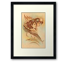 """""""THE GEMINI"""" - Protective Angel for Zodiac Sign Framed Print"""