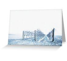 winter wine Greeting Card