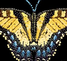 Bedazzled Tiger Swallowtail Butterfly Sticker