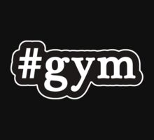 Gym - Hashtag - Black & White Kids Tee