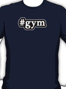 Gym - Hashtag - Black & White T-Shirt