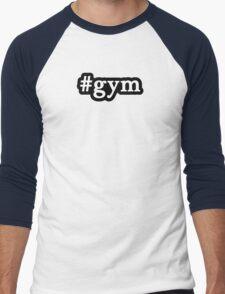 Gym - Hashtag - Black & White Men's Baseball ¾ T-Shirt