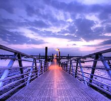Floating Quay Sunset by Nigel Bangert