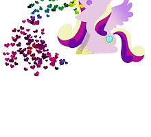 Princess Cadence Heart Vomit by MegnxNeko