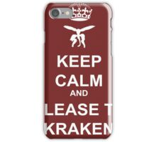Keep Calm and Release the Kraken iPhone Case/Skin