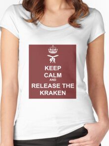 Keep Calm and Release the Kraken Women's Fitted Scoop T-Shirt
