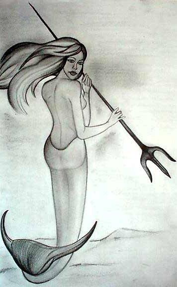 Sketch of a mermaid by vivianne