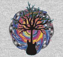 """Psychedelic Sonic Cyclone"" ( surreal guitar art ) Baby Tee"