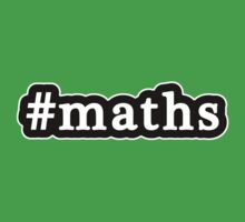 Maths - Hashtag - Black & White Baby Tee