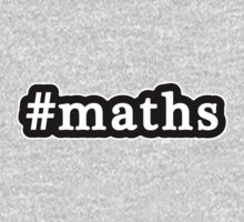 Maths - Hashtag - Black & White Kids Clothes