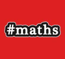 Maths - Hashtag - Black & White Kids Tee