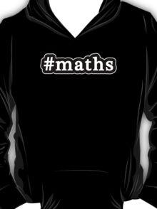 Maths - Hashtag - Black & White T-Shirt