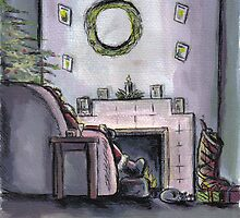 Santa resting on Xmas Eve by Andy  Housham