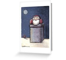 Santa stuck in the Chimney Greeting Card