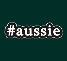 Aussie - Hashtag - Black & White by graphix