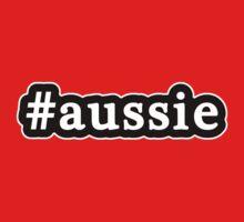 Aussie - Hashtag - Black & White Kids Tee