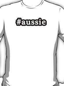 Aussie - Hashtag - Black & White T-Shirt