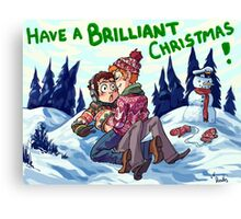 Skipthur Christmas Canvas Print