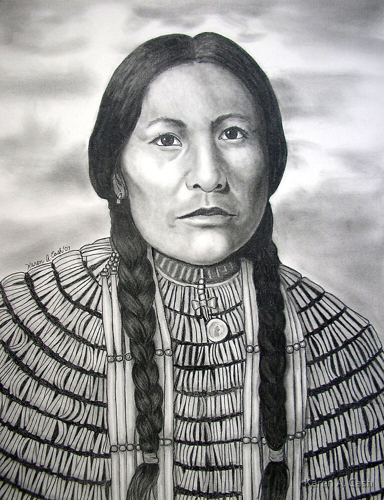 'White Bird'-Oglala Sioux by Karen A. Cash