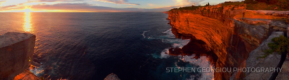 Vaucluse Sunrise (Warm your attitude with Love) by STEPHEN GEORGIOU PHOTOGRAPHY