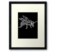"""""""Bee Spirit"""" ver.2 - Surreal abstract tribal bee totem animal Framed Print"""