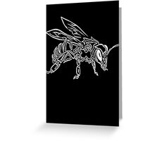 """""""Bee Spirit"""" ver.2 - Surreal abstract tribal bee totem animal Greeting Card"""