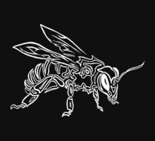 """Bee Spirit"" ver.2 - Surreal abstract tribal bee totem animal by VisionQuestArts"