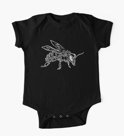 """""""Bee Spirit"""" ver.2 - Surreal abstract tribal bee totem animal One Piece - Short Sleeve"""